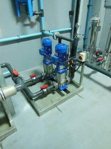 Duplex Vertical Multistage Pump Skid